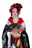 Female wearing a Japanese kimono Royalty Free Stock Image