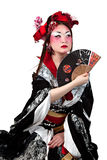 Female wearing a Japanese kimono Stock Photos