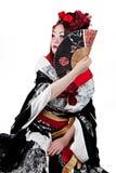 Female wearing a Japanese kimono Stock Image