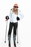 Female wearing ski gear Stock Photo