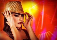Female wearing stylish hat royalty free stock photography