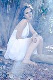 Female Wearing White Dress Photography Stock Photography