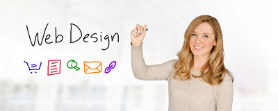 Female Web Designer Stock Photos