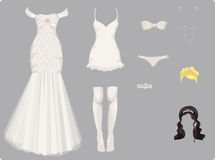 Female wedding clothes Royalty Free Stock Photography