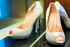 Female wedding footwear Stock Image
