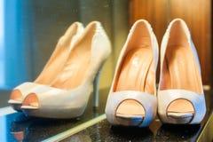 Female wedding footwear Royalty Free Stock Photo