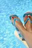 Female wet feet Royalty Free Stock Photography