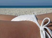 Female in a white bikini Stock Image