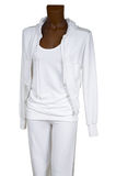 Female white tracksuit Royalty Free Stock Photo