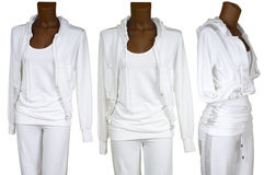 Female white tracksuit Stock Photos