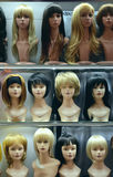 Female wigs Royalty Free Stock Photography