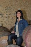 Female wine maker Stock Images