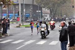The female winner of the Turin Marathon 2010 Stock Image
