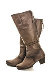 Female winter boots Royalty Free Stock Photography