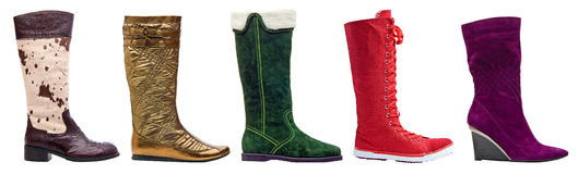 Free Female Winter High Boots With Path Stock Photography - 13893942