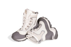 Female  winter shoes on a white background Stock Photography
