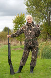 Female With Gun. Royalty Free Stock Images