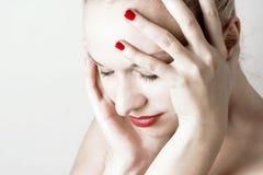 Female With Headache Stock Photo