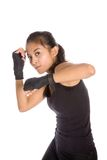 Female woman in defense stance in exercise Stock Photography