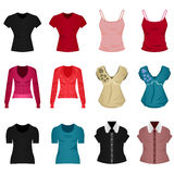 Female Woman Girl Shirt Blouse Tops Cloth Clothing Royalty Free Stock Image