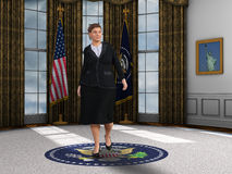 Female Woman President Oval Office Illustration Royalty Free Stock Photo