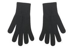 Female wool gloves Royalty Free Stock Images