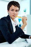 Female at work Royalty Free Stock Photography