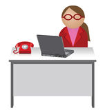 Female worker Royalty Free Stock Photos