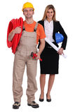 Female worker and architect Stock Image