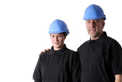Female worker with helmet Royalty Free Stock Images