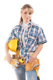 Female worker isolated Royalty Free Stock Photos