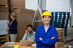 Female worker looking at camera Stock Photos