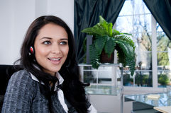 Female Worker on the phone. Attractive female worker on the phone. Shot with Hi Res Camera stock images