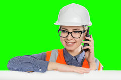 Female worker portrait Stock Image
