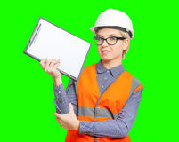 Female worker portrait Stock Photos