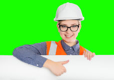 Female worker portrait Royalty Free Stock Photo