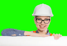 Female worker portrait Stock Photo