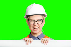 Female worker portrait Royalty Free Stock Photos