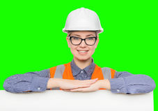 Female worker portrait Royalty Free Stock Photography