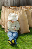 Female worker resting Royalty Free Stock Photo