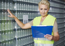 Female worker in warehouse Stock Photos