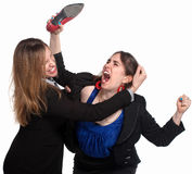 Female Workers Fighting Royalty Free Stock Photo