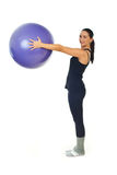 Female workout with pilates ball Stock Photos