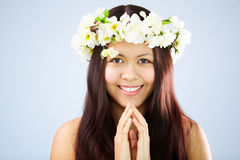 Female in wreath Stock Image