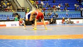 Female wrestling tournament in Kiev, Ukraine, stock footage