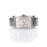 Female wrist watch with diamonds Stock Photo