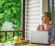 Female writer. Stock Photos