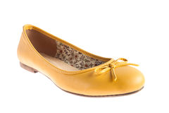 Female yellow shoes isolated Royalty Free Stock Photo
