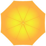 Female yellow umbrella Royalty Free Stock Photos
