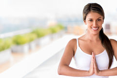 Female yoga instructor Royalty Free Stock Photography